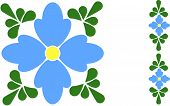 Forget-me-not Flower Tile