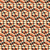 Abstract geometrical 3d background. Seamless pattern.  Mosaic. Vector illustration. Can be used for