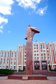 Lenin Statue in Front of the Presidential Palace, Tyraspol, Transnistria