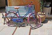 Old Colorful Vintage Bicycle