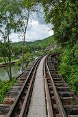 Death Railway In Kanchanaburi Thailand - Built During World War Ii