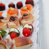 Collection Of Appetizers On A Buffet Table