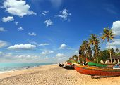 pic of old boat  - old fishing boats on beach  - JPG