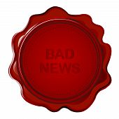 Wax Seal With Bad News
