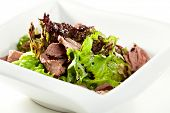 foto of duck breast  - Breast of Duck Salad with Sauce - JPG