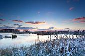 Winter Sunrise On River