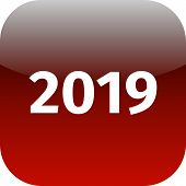 Year 2019 Red Icon