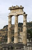 Temple of Athena pronoia at Delphi Greece