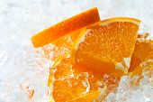Orange With Ice