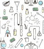 Chemical Laboratory Seamless Pattern