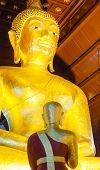 Golden Seated Buddha Image