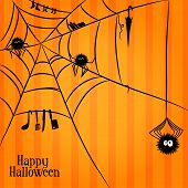 Web, spiders and some things in Halloween style
