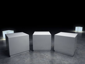 stock photo of plinth  - empty plinth to place your product - JPG