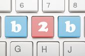 Finance concept of text b2b on keyboard
