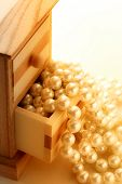 Pearl In Wooden Box