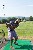 Golfing at the Range