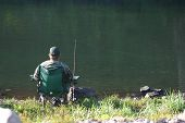 Relaxing And Fishing