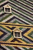 St Stephen Cathedral Multicolored Tile Roof Detail Wien Austria