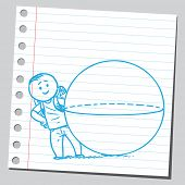 Schoolkid and ball