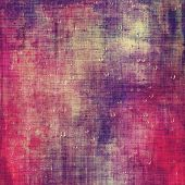 Abstract grunge background with retro design elements and different color patterns: red (orange); gray; purple (violet); pink