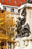 Lady Liberty General Rochambeau Statue Lafayette Park Autumn Washington Dc