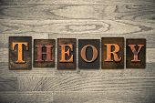 Theory Wooden Letterpress Concept