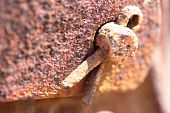 picture of splayed  - Old rusty metal detail fixed splay piece.