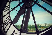 picture of muse  - Glass clock face in the Musee d
