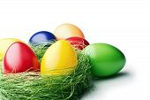 stock photo of gift basket  - Easter egg - JPG