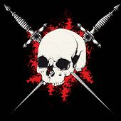 skull and dagger black