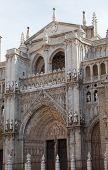 Entrance in cathedral de Toledo