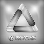 Design Triangle On Grey