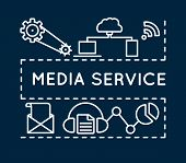 Concept Of Media Service. Linear Style