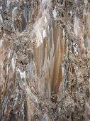foto of crystal salt  - Natural salt crystals in nature salt mountain Cardona Catalonia Spain - JPG