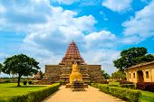 picture of tamil  - entrance in Hindu Temple dedicated to Shiva ancient Gangaikonda Cholapuram Temple India Tamil Nadu Thanjavur (Trichy)