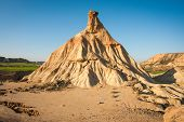 stock photo of unique landscape  - Unusual and unique landscape at Bardenas reales Navarra Spain - JPG