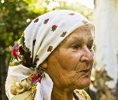 Old Lady In Shawl