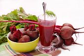 Fresh Beets With Leaves And Clear Soup