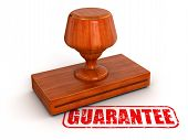 Rubber Stamp guarantee (clipping path included)