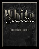 Wine label for White Zinfandel