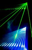 picture of club party  - Laser show on a disco party in night club - JPG