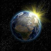 Sun, Stars And Planet Earth