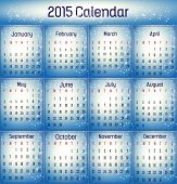 2015- Blue Color Calendar