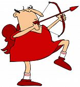 Cupid aiming his arrow