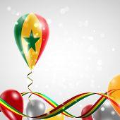 Flag of Senegal on balloon