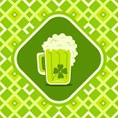 Beer Mug With Clover