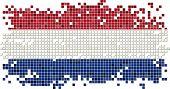 Dutch grunge tile flag. Vector illustration