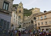 Amalfi Main Square With People