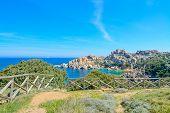 stock photo of shoreline  - Capo Testa shoreline on a clear day - JPG