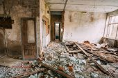 stock photo of nuclear disaster  - Abandoned House Interior In Chernobyl Resettlement Zone - JPG